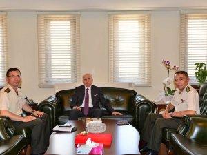 Yeni Garnizon Komutanı Samsun Valisi Şahin'i Ziyaret Etti