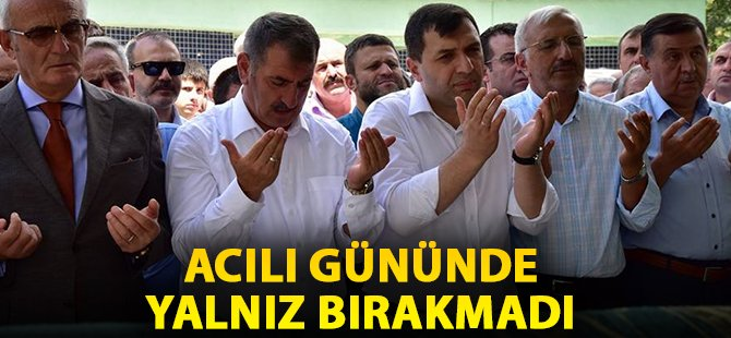 Samsun Milletvekili Fuat Köktaş Hasan Basri Kurt'u Yalnız Bırakmadı