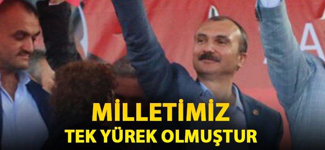 """AK Parti Samsun milletvekili Kırcalı; """"Milletimiz Tek Yürek Olmuştur"""""""