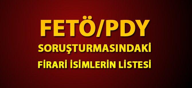 Samsun Valiliği FETÖ/PDY Soruşturması Kapsamındaki Firari Olan İsimleri Açıkladı