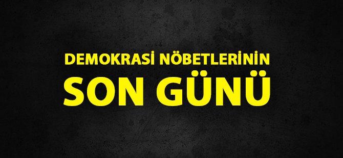 Samsun Cumhuriyet Meydanı'nda Son Demokrasi Nöbeti