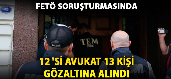 Samsun'daki FETÖ Soruşturmasında 12 Avukat Gözaltına Alındı