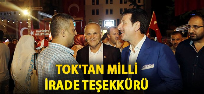 Samsun'un İlkadım İlçe Belediye Başkanı Tok'tan Vatan Bekçilerine Teşekkür