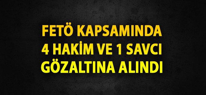 Samsun'da FETÖ Kapsamında 4 Hakim ve 1 Savcı Gözaltına Alındı