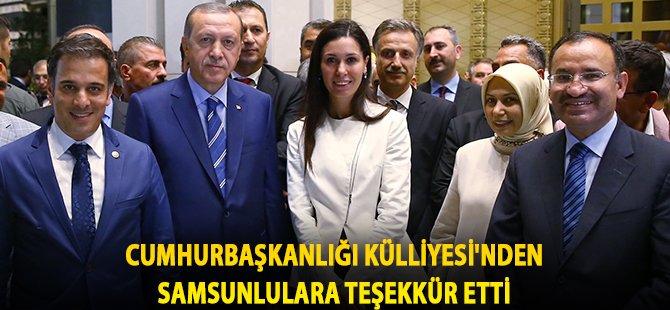 AK Parti Samsun Milletvekili Karaaslan, Cumhurbaşkanlığı Külliyesi'nden Samsunlulara Teşekkür Etti