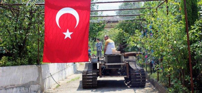 Darbecilere Karşı 'Tank' Yaptı