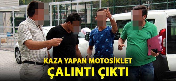 Samsun'da Kaza Yapan Motosiklet Çalıntı Çıktı