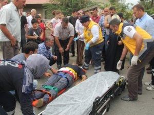 Samsun'da Motosiklet Kazası 1 Yaralı