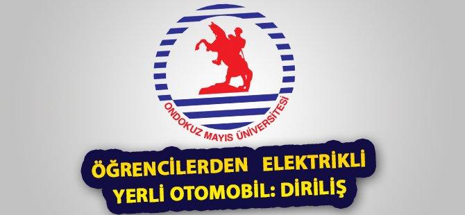 """Samsun OMÜ'lü Öğrencilerden Elektrikli Yerli Otomobil: """"Diriliş"""""""
