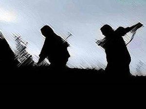 Bitlis'te PKK'lı Teröristler Yol Kesip İş Makinesini Yaktı