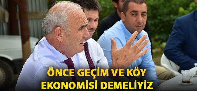 """Samsun Büyükşehir Belediye Başkanı Yılmaz; """"Önce Geçim ve Köy Ekonomisi Demeliyiz"""""""