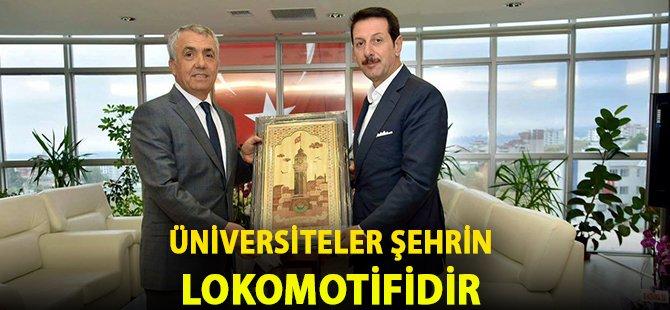 """Samsun'un İlkadım İlçe Belediye Başkanı Tok; """"Üniversiteler Şehrin Lokomotifidir"""""""