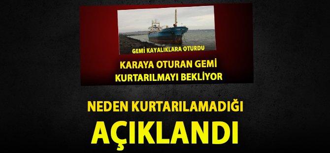 Samsun'da Karaya Oturan Kuru Yük Gemisinin Neden Kurtarılamadığı Açıklandı