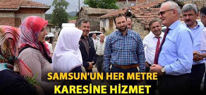 """Samsun Büyükşehir Belediye Başkanı Yılmaz; """"Samsun'un Her Metre Karesine Hizmet"""""""