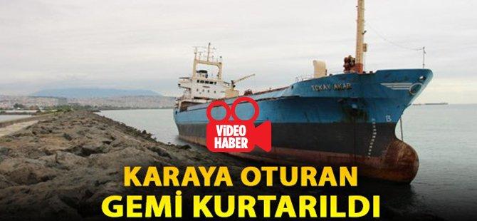 Samsun'da Karaya Oturan Gemi Kurtarıldı