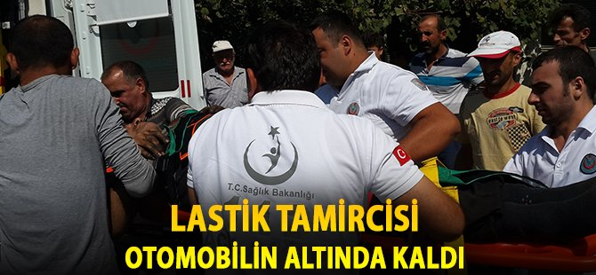 Samsun'da Lastik Tamircisi Otomobilin Altında Kaldı