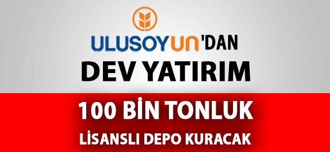 Ulusoy Un Samsun ve Çorum'da 100 Bin Tonluk Lisanslı Depo Kuracak