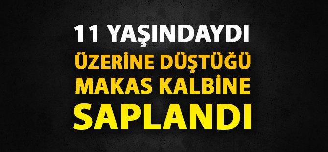 Sinop'ta Üzerine Düştüğü Makas Kalbine Saplanan Çocuk Hayatını Kaybetti