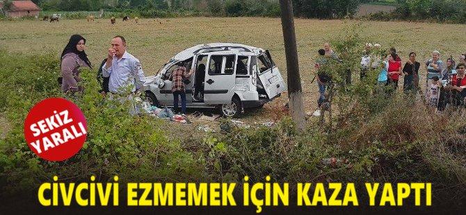 Samsun'da Civcivi Ezmemek İçin Kaza Yaptı: 3'ü Çocuk 8 Yaralı