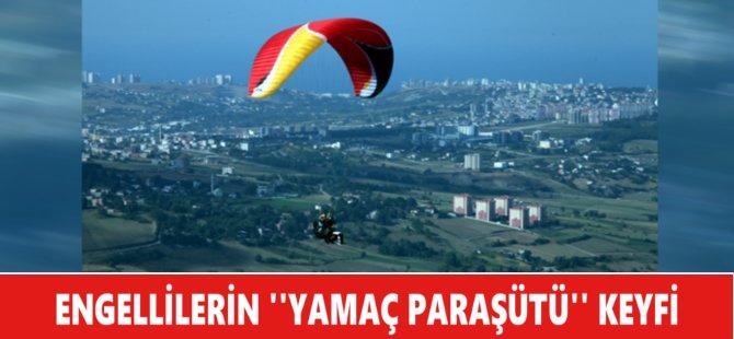 Samsun'da Engellilerin ''Yamaç Paraşütü'' Keyfi