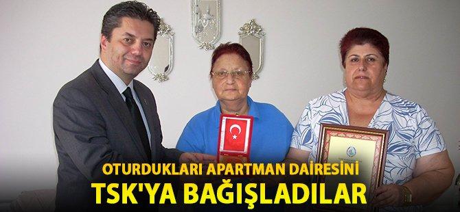 Samsun'da İki Kız Kardeş Oturdukları Apartman Dairesini TSK'ya Bağışladılar