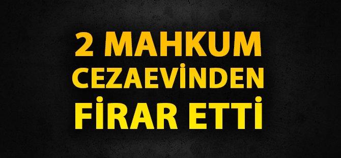 Samsun'da 2 Mahkum Cezaevinden Firar Etti