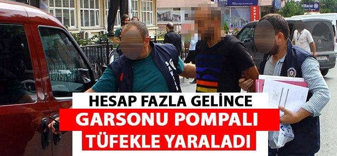 Samsun'da Bir Şahıs Hesap Fazla Gelince Garsonu Pompalı Tüfekle Yaraladı