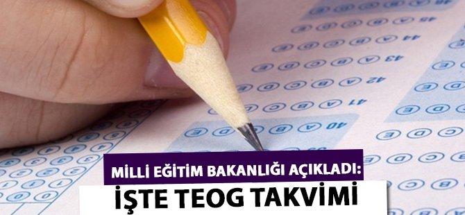 Milli Eğitim Bakanlığı Açıkladı: İşte TEOG Takvimi