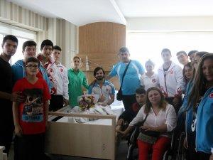 Samsun Engelli Birimi Genç Halterciyi Ziyaret Etti