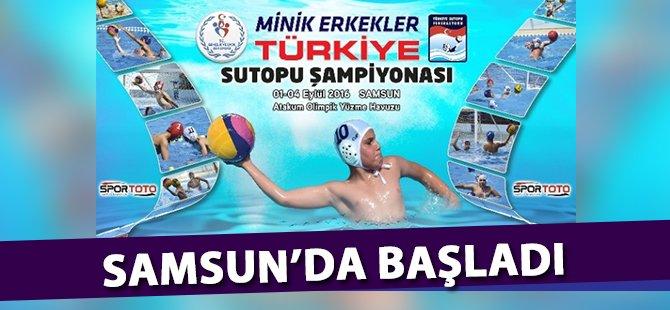 Sutopu: Minik Erkekler Türkiye Şampiyonası Samsun'da Başladı
