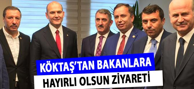 AK Parti Samsun Milletvekili Köktaş'tan Bakanlara Hayırlı Olsun Ziyareti