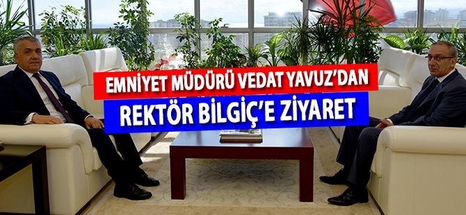Samsun Emniyet Müdürü Vedat Yavuz'dan Rektör Bilgiç'e Ziyaret
