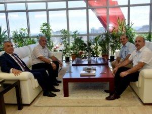 Samsun Halk Sağlığı Müdüründen OMÜ  Rektörü Prof. Dr. Sait Bilgiç'e Ziyaret