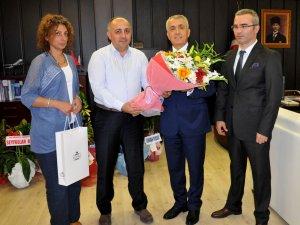 KYK Samsun Bölge Müdürü ve Yurt Müdürlerinden Rektör Bilgiç'e Kutlama Ziyareti