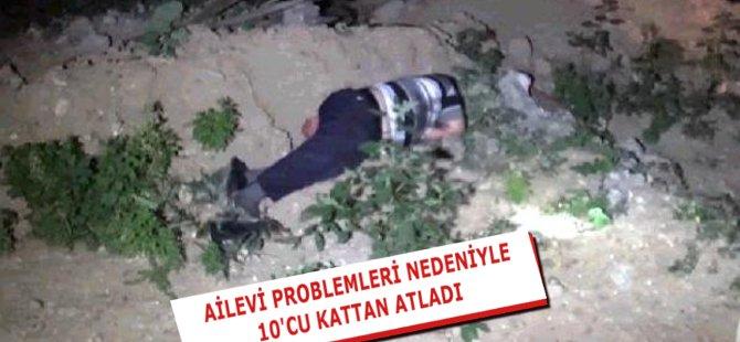 Samsun'da 10 Katlı Binanın Çatısından Atlayan Şahıs Ağır Yaralandı