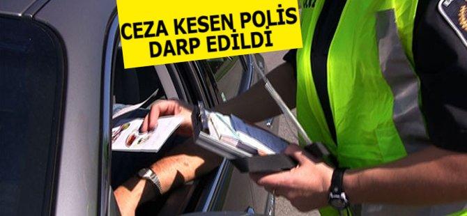 Samsun'da Ceza Kesen Polis Darp Edildi