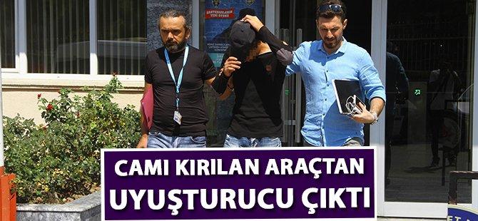 Samsun'da Camı Kırılan Araçtan Uyuşturucu Çıktı