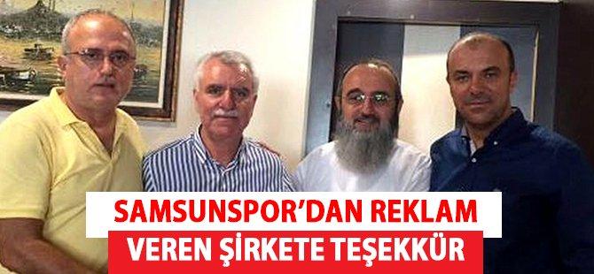 Samsunspor'dan Reklam Veren Şirkete Teşekkür