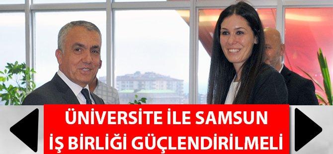 Samsun Milletvekili Çiğdem Karaaslan'dan Rektör Bilgiç'e Ziyaret