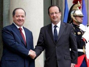 Irak Kürt Bölgesel Yönetimi Başkanı Barzani Paris'te