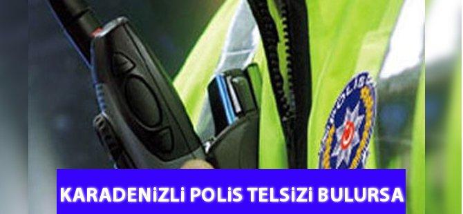 Rizeli Vatandaş Yolda Polis Telsizi Bulursa