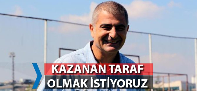 """Samsunspor'un Sportif Direktörü Zeren; """"Kazanan Taraf Olmak İstiyoruz"""""""