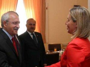 CHP Genel Başkanı Kılıçdaroğlu, Mogherini ve Johannes Hahn İle Görüştü