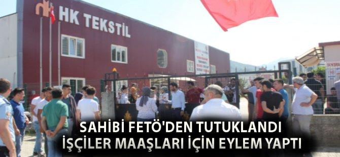 Samsun'da Ücretsiz İzne Çıkarılan İşçilerden Eylem