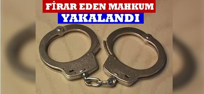 Samsun'da Firar Eden Mahkum Yakalandı