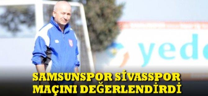 Samsunspor Teknik Direktörü Korukır Samsunspor Sivasspor Maçını Değerlendirdi
