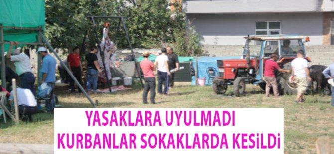 Samsun'da Kurbanlıklar Yasaklara Rağmen Sokaklarda Kesildi