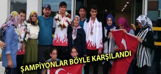 Avrupa Şampiyonları Samsun'da Böyle Karşılandı