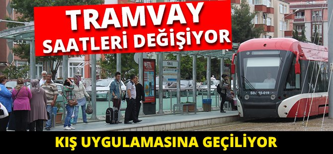 Samsun'da Tramvay Saatleri Değişiyor