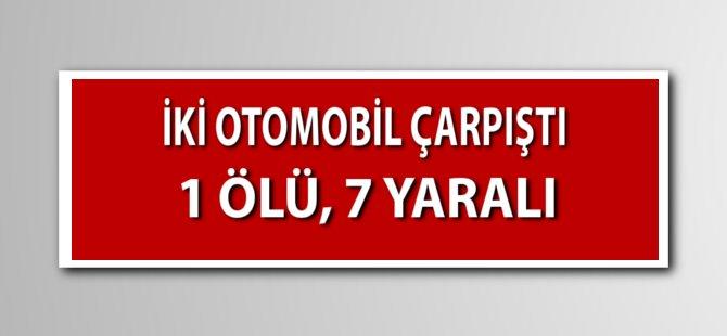 Samsun'da İki Otomobil Çarpıştı: 1 Ölü, 7 Yaralı